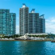 Miami Beach Skyline — Stock Photo