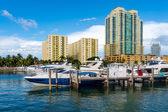 Boats in Miami Beach Marina — Stock Photo