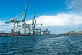 Miami Seaport Cargo Terminal — Stock Photo