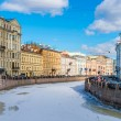 Street in St. Petersburg Russia — Stock Photo