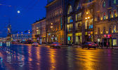 Nevsky Prospect at Night — Stock Photo