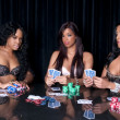 Ladies poker room — Stock Photo