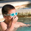 Portrait of Kid in Swimming Pool — Stock Photo