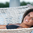 Smiling in the hammock — Stock Photo