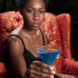 Blue Martini Drink — Stock Photo
