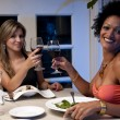Happy Girls toasting — Stock Photo