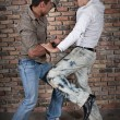 Street boys fight — Stock Photo