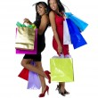 Shopping Girls — Stok fotoğraf
