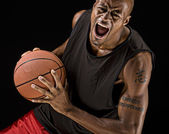 Powerful Basketball Player — Stock Photo