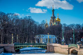 Church of the Savior on Blood Cupolas — Stock Photo