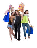 Girls went shopping — Stock Photo