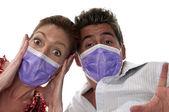 Influenza masks — Stock Photo