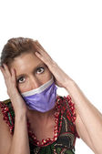 Scared of the virus — Stock Photo