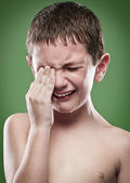 Portrait of boy crying — Stock Photo