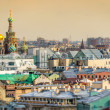 Saint Petersburg Skyline and Church of the Savior on Blood Dome — Stock Photo #31067735