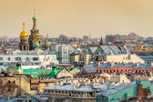 Saint Petersburg Skyline and Church of the Savior on Blood Dome — Stock Photo