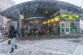 Snow storm in St. Petersburg — Stock Photo