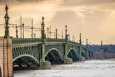 Trinity Bridge in St. Petersburg — Stock Photo