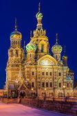 サンクトペテルブルクで血の上の救世主教会 — ストック写真