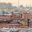 Stock Photo: Aerial view of Saint Petersburg and Naval Cathedral of St. Nicho