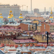 Aerial view of Saint Petersburg and Naval Cathedral of St. Nicho — Stock Photo