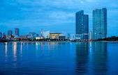Skyline van downtown miami — Stockfoto
