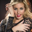 Portrait young blonde sensual woman — Stock Photo