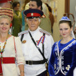 Representatives of the people of Moscow area in national dresses — Stockfoto