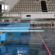 The equipment for jumps in the swimming pool Olympic in Moscow — Stock Photo