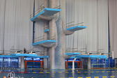 The equipment for jumps in the swimming pool Olympic in Moscow — Fotografia Stock