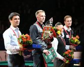 """The international tournament on billiard sports """"Kremlin Cup"""" in the sports Olympic complex — Stock Photo"""