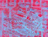 Superfície pintada de rosa e turquesa — Fotografia Stock