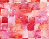 Red watercolor squares — Stock Photo