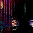 Abstract of moving water with colors at night — Stock Video #22480409