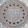Manhole cover — Stock Photo