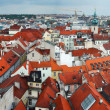 Panoramic view from Old Town Square Tower, Prague — Stock Photo