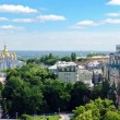 Panoramic view on St. Michael's Golden Domed Monastery — Stock fotografie