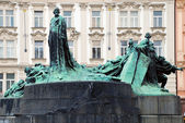 The Jan Hus Memorial — Stock Photo