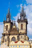 Church of Our Lady before Týn or Church of Mother of God in front of Týn, Prague, Czech Republic — Foto de Stock
