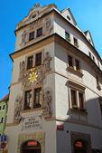 Old hotel in Prague — Stock Photo