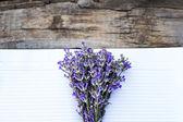 Bouquet de lavande et de journal intime — Photo