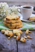 Biscotti and a cup of coffe — Stock Photo