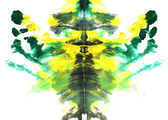 Abstract symmetric painting. Rorschach test — Stock Photo