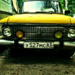 Stock Photo: Old classic car in russia: moscvich 412