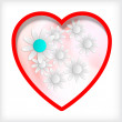 Royalty-Free Stock Imagem Vetorial: Abstract heart