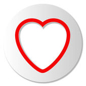 Icon with heart — Stock Vector
