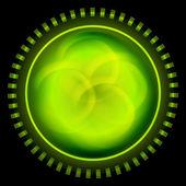 Green abstract circle — Stock Vector
