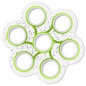 Green circular boxes for text — Stock Vector