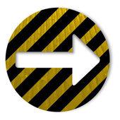 Grunge pictogram met pijl — Stockvector