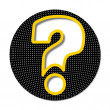 Icon with question mark — Stock Vector